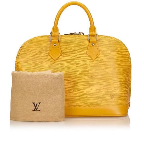 Louis Vuitton Handbags - Vintage Louis Vuitton Yellow Epi Alma Handbag PM